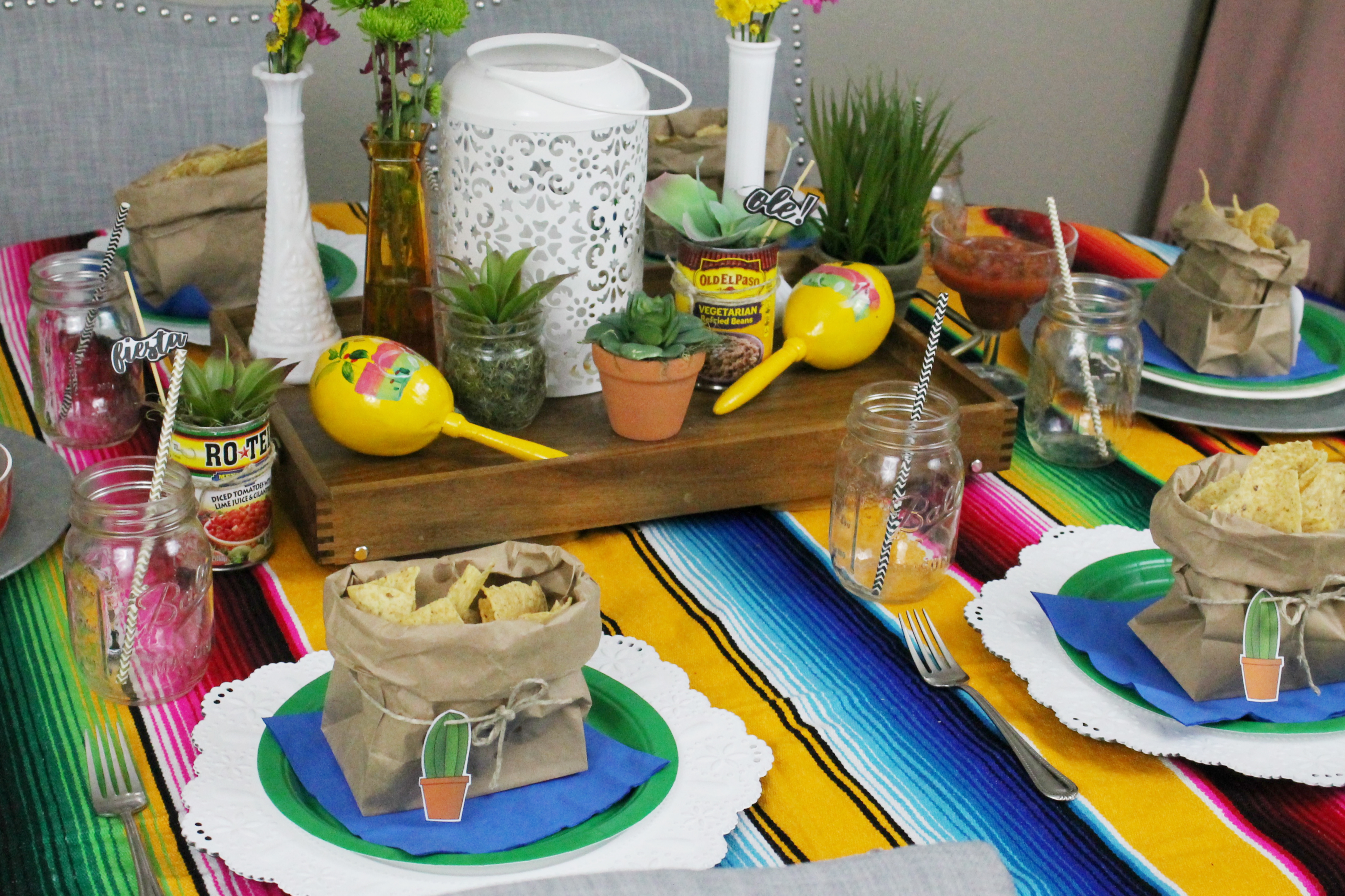 image relating to Cinco De Mayo Printable Decorations known as CINCO DE MAYO TABLESCAPE + Cost-free PRINTABLE - Maddie