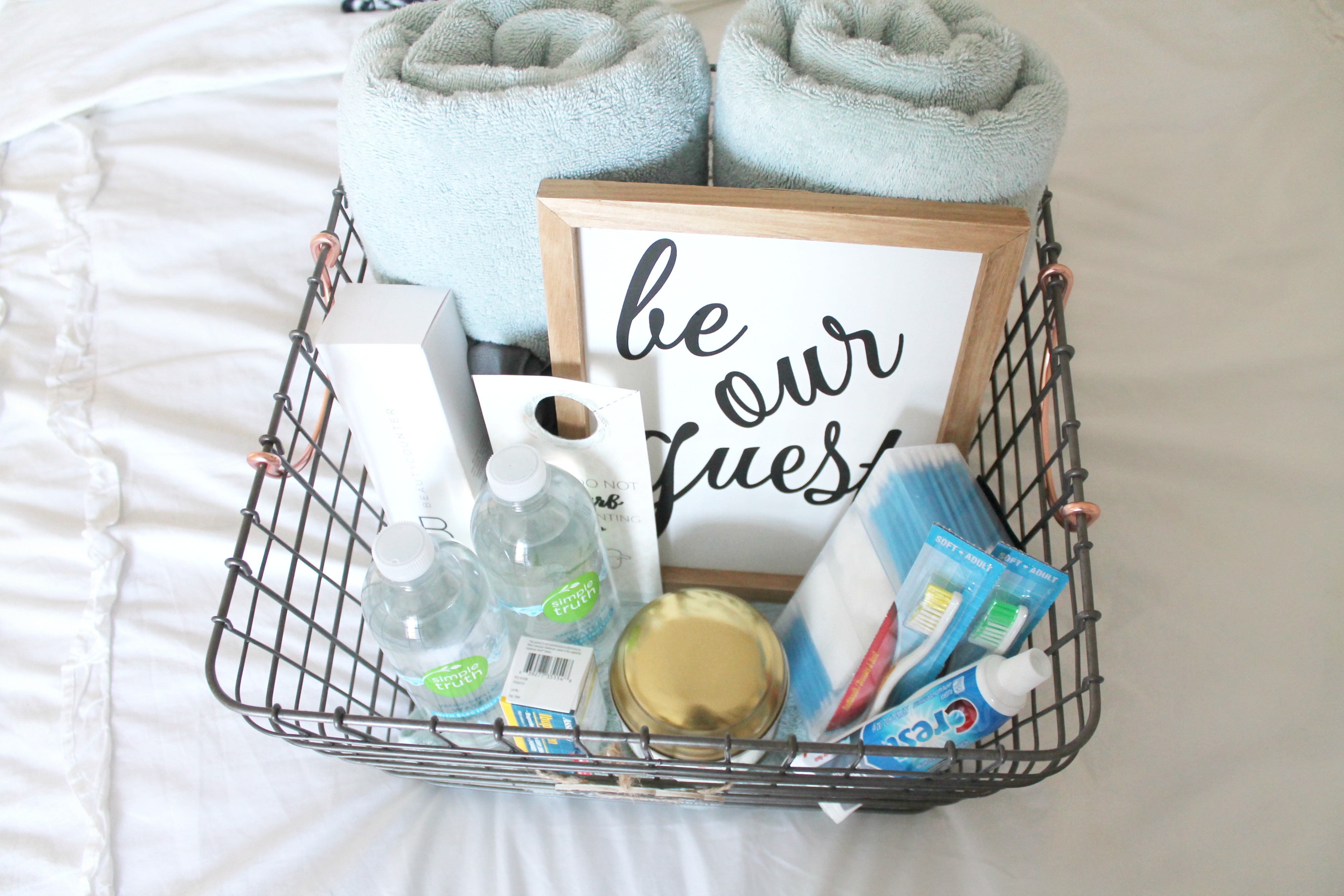 Guest Room Welcome Basket + Free Printable