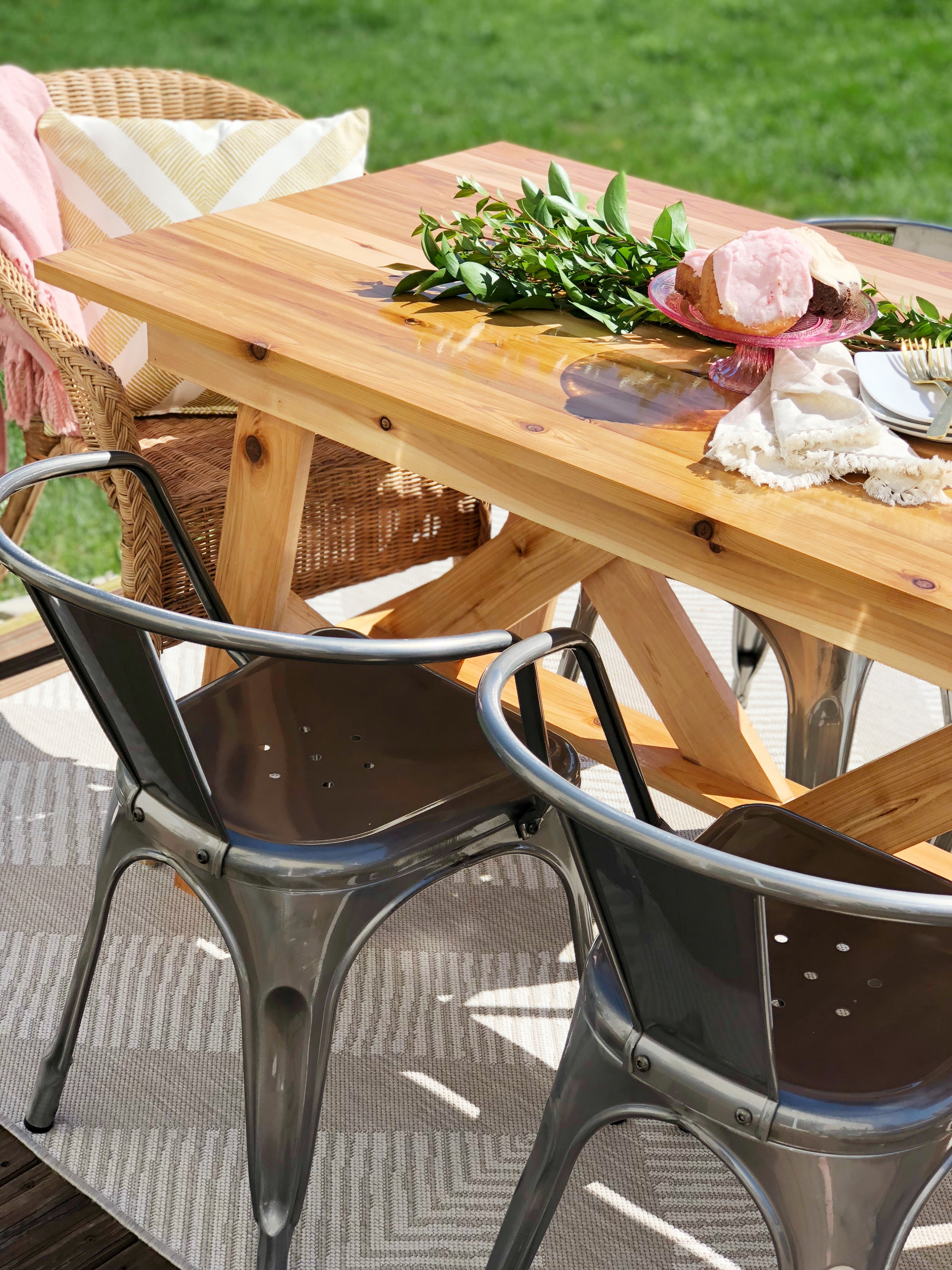 Outdoor Table With Walnut Creek Woodcrafts